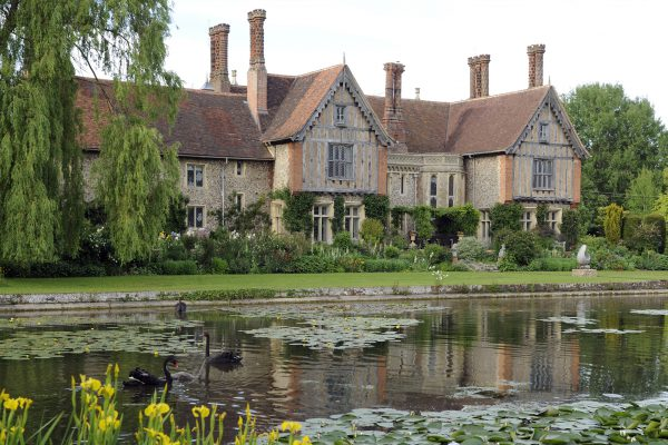 Elsing Hall with a beautiful moat