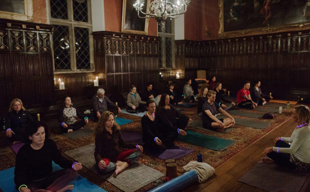 Yoga at Powderham Castle in Devon