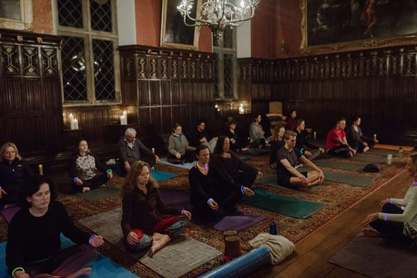 Yoga at Powderham Castle in Devon