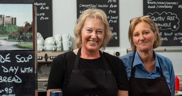 Bamburgh Castle, cafe staff