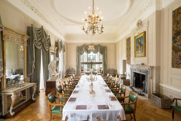 Marchmont House Dining Room with Anthony Gormley sculpture