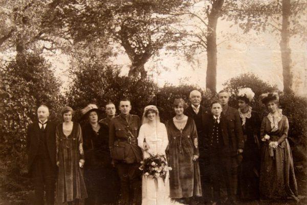 Bamburgh Castle old wedding photo
