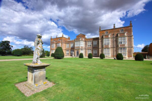 Burton Constable Hall front and statue