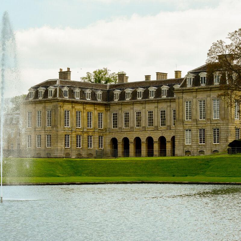 Boughton House Grand Etang. water fountain