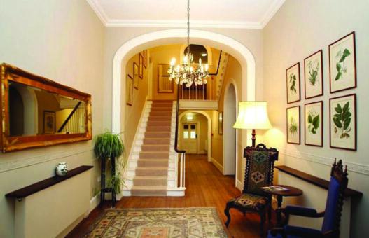 Bressingham Hall entrance staircase
