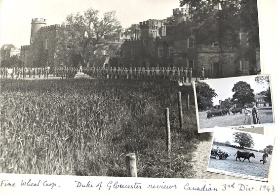 Canadian troops stationed at Knepp in 1943