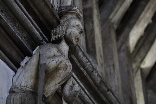 Carved female figure Penshurst