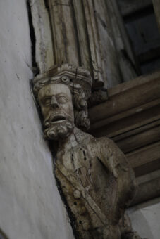 Carved male figure Penshurst