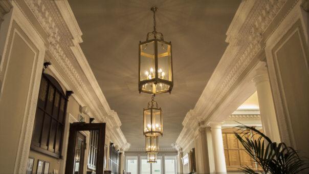 Camden Place Hall lanterns