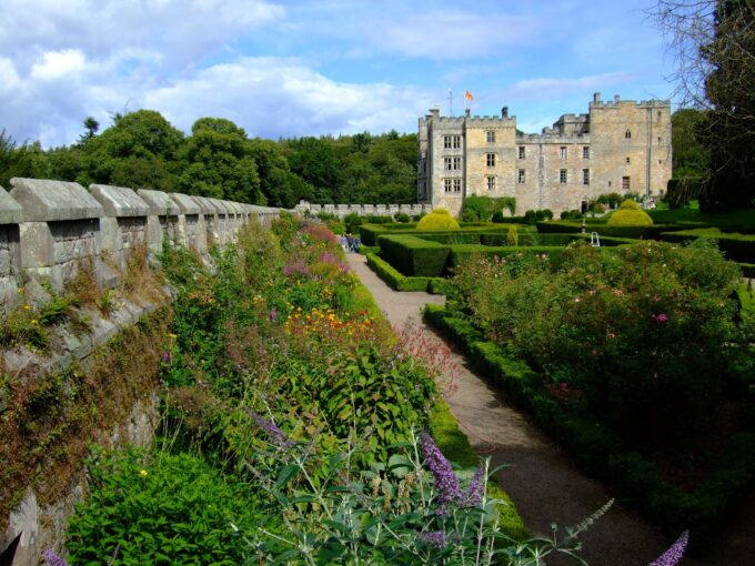 Chillingham Castle gardens and topiary