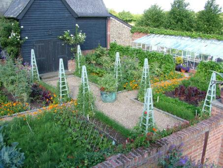 Columbine Hall vegetable garden