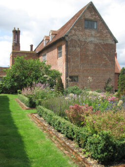 Crows Hall garden and rear of the house