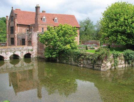 Crow's Hall glorious moat and bridge
