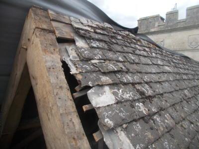 Roof repairs, Deene Park