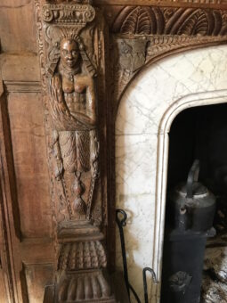 Acton Scott Hall Fireplace Carving