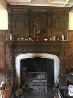 Acton Scott Hall Drawing Room Fireplace