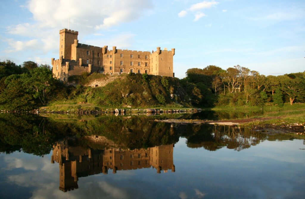 Dunvegan Castle from across the water