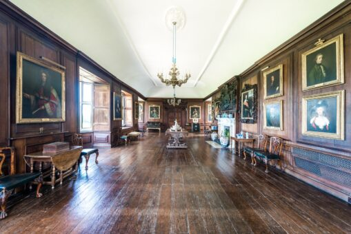 Glynde Place Long Gallery and paintings