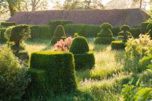 Great Dixter Garden topiary in the garden