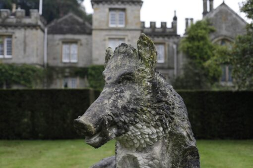 Gresgarth Hall Boar Sculpture