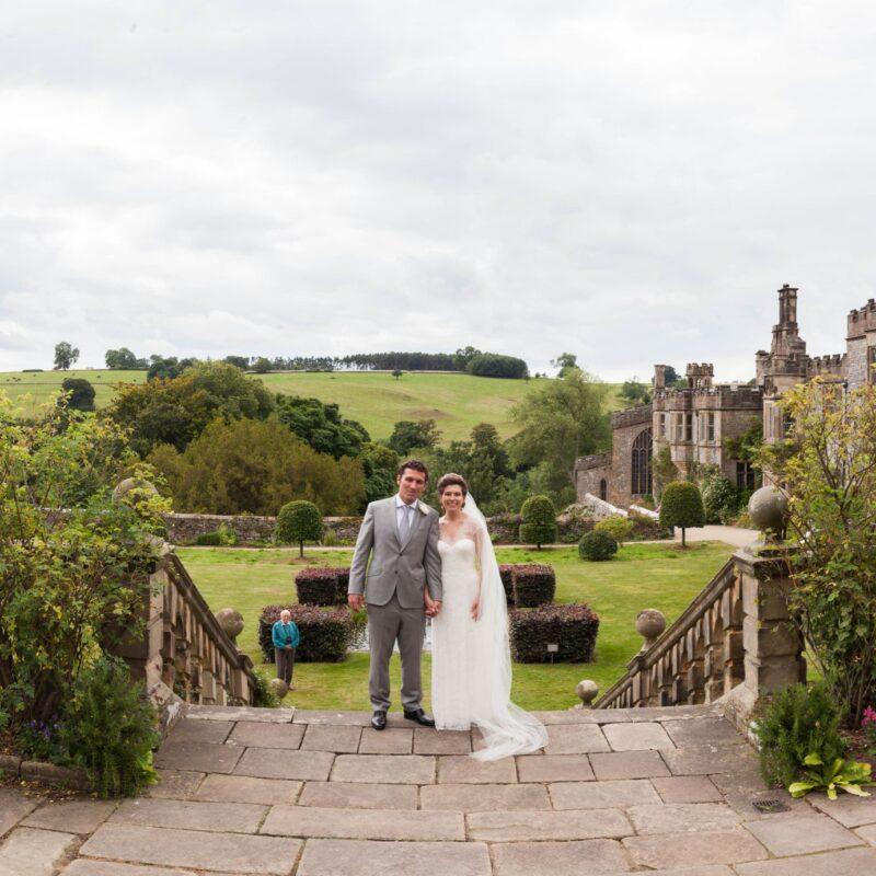 Haddon Hall Tudor Wedding couple