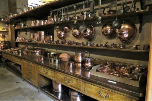 Harewood House old kitchen utensils