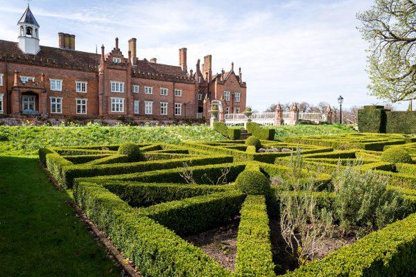 Helmingham Hall maze in Suffolk