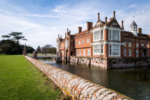 Helmingham Hall moated historic house in Suffolk
