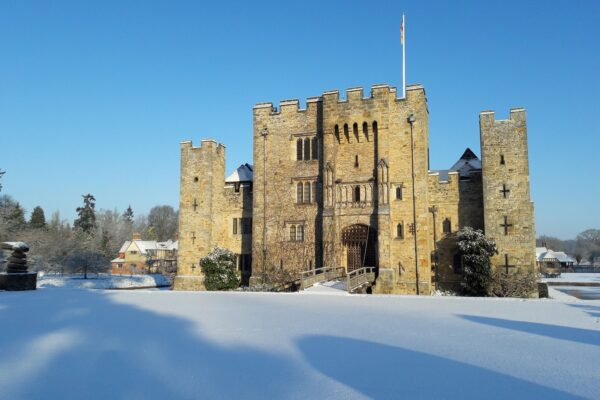 Hever Castle at winter