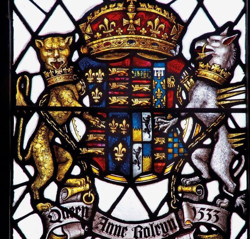 Hever Castle stained glass of Queen Anne Boleyn 1533
