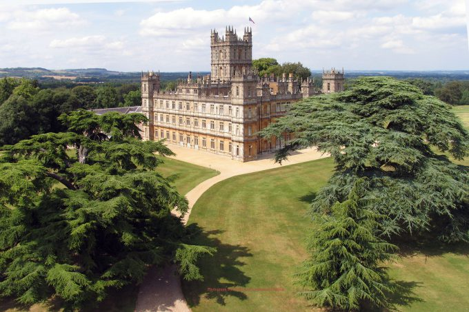 Highclere Castle is the home of Downton Abbey in Hampshire, UK