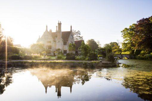Hindringham Hall beautiful lake photograph