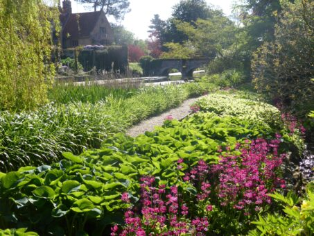 Hindringham Hall garden bridge