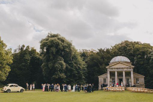 Holkham Hall wedding event in the grounds