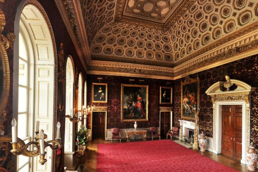 The glorious state rooms of Holkham Hall in Norfolk