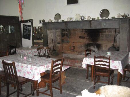 Kelly House old kitchen in Devon