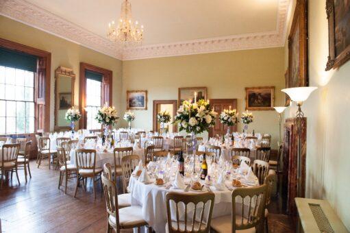 Kelmarsh Hall Ballroom for a wedding reception