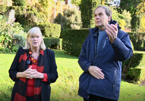 The Earl and Countess of Sandwich at Mapperton Gardens