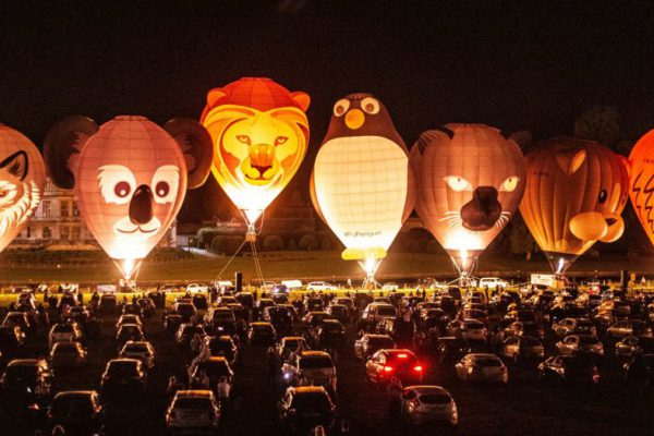Longleat UKs First Drive-in Night Glow Event