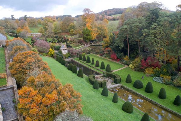 Mapperton Italian Gardens and topiary