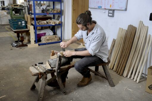 Marchmont House - Chairmakers Richard Platt and Sam Cooper - Colin Hattersley Photography