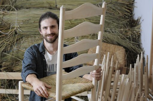Chairmakers Richard Platt and Sam Cooper at Marchmont - Colin Hattersley Photography