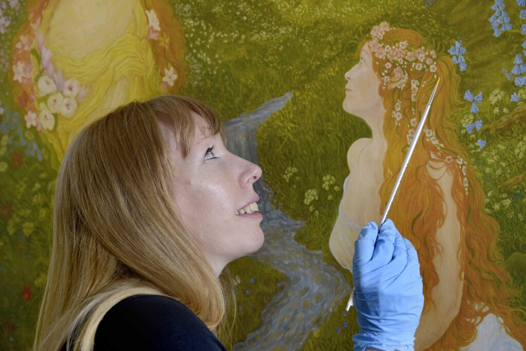 Marchmont House Murals - Colin Hattersley Photography