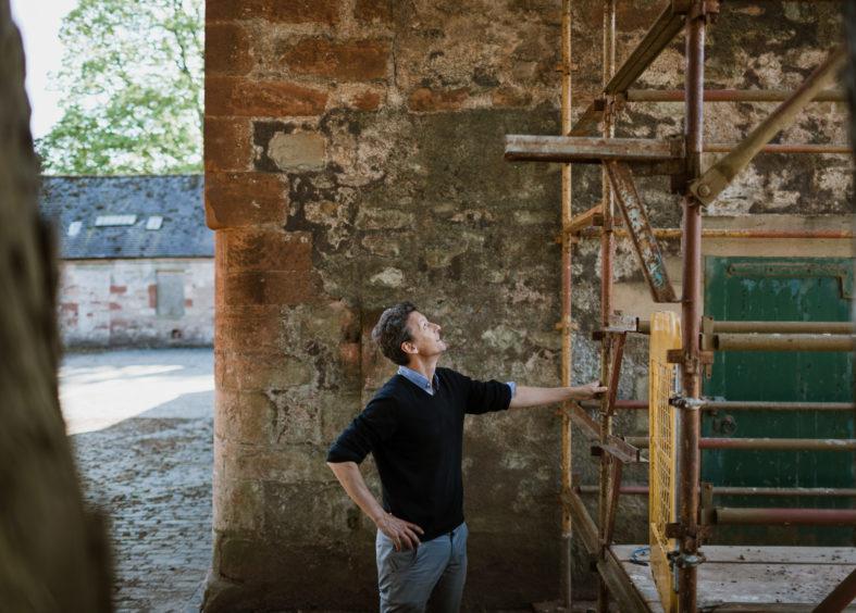 Marchmont Hugo Burge restoring the house