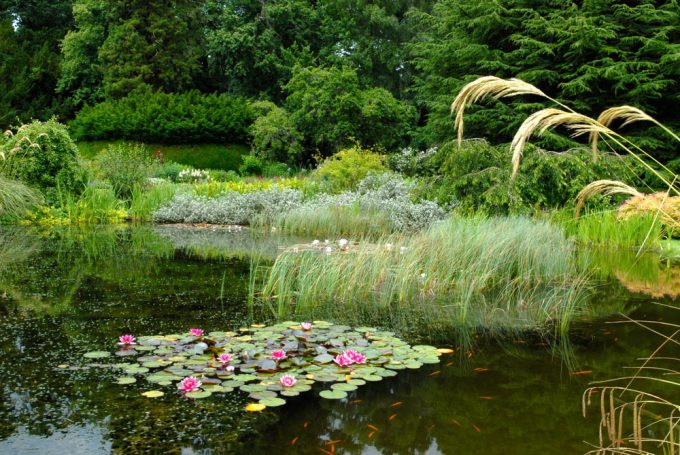 Mertoun gardens in Roxburghshire, Scotland