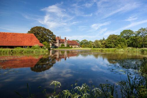 Michelham Priory lake view