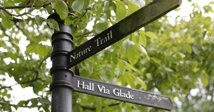 Middleton Hall park sign for visitors by Layton Thompson