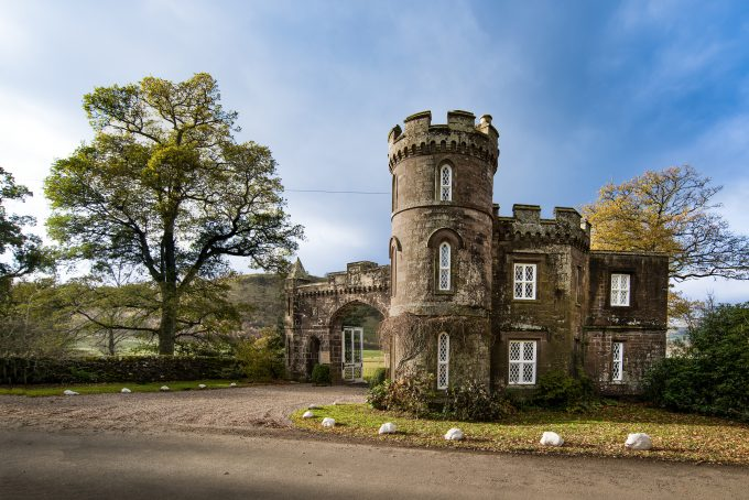 Monzie Castle in Scotland