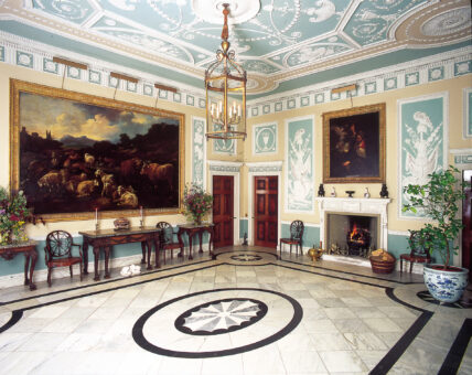 Newby Hall entrance hall in marble