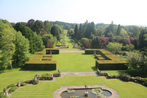 Newby Hall Gardens taken from the top of the house